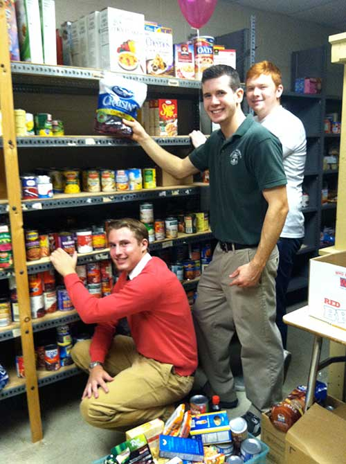 Helping to Stock the Food Pantry